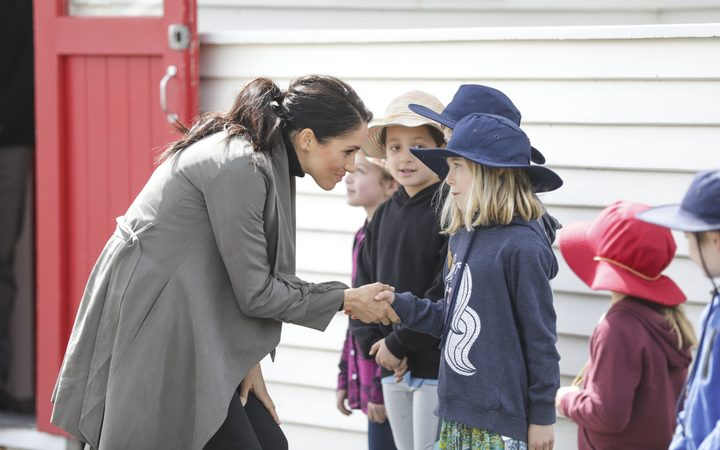 Duke and Duchess of Sussex at the Maranui Cafe in Wellington