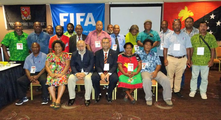 Attendees at the PNGFA Congress including new president John Kapi Natto (Front 3L) and vice president John Wesley Gonjuan (Front 3R)