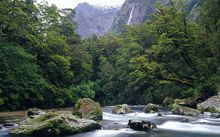 The Clinton River on the Milford Track.