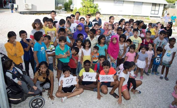 Refugee children on Nauru