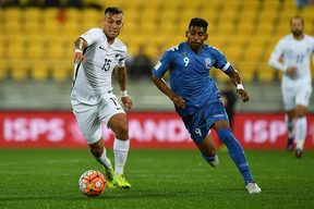 Roy Krishna playing for Fiji against New Zealand in 2017.