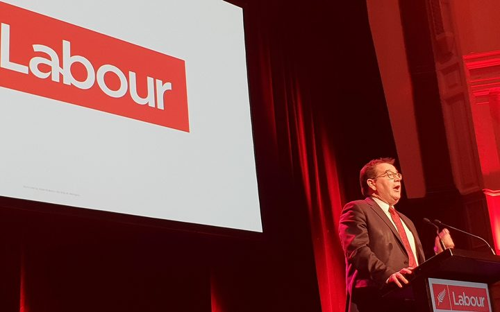 Grant Robertson speaks at the Labour Party conference