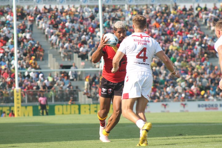 Nene MacDonald played in the PNG Kumuls victory over the England Knights.