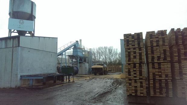 The Millstream lumber division in Milton.