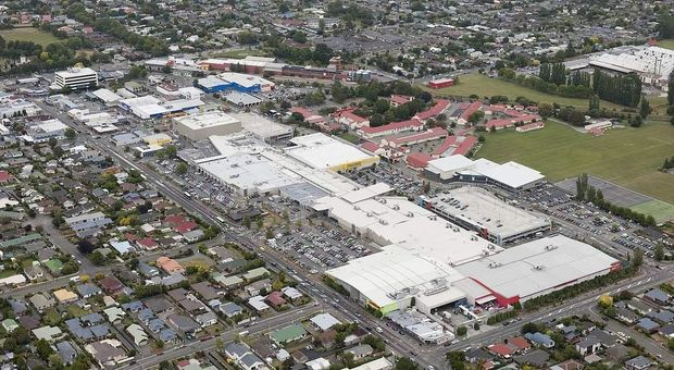 An aerial view of Northlands Mall in Christchurch where 11 stores have been reinstated.