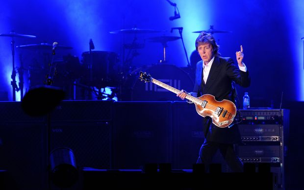 Paul McCartney performing in Montevideo April 2014.