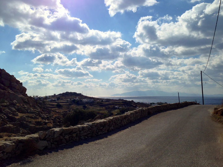 On the road to Mykonos