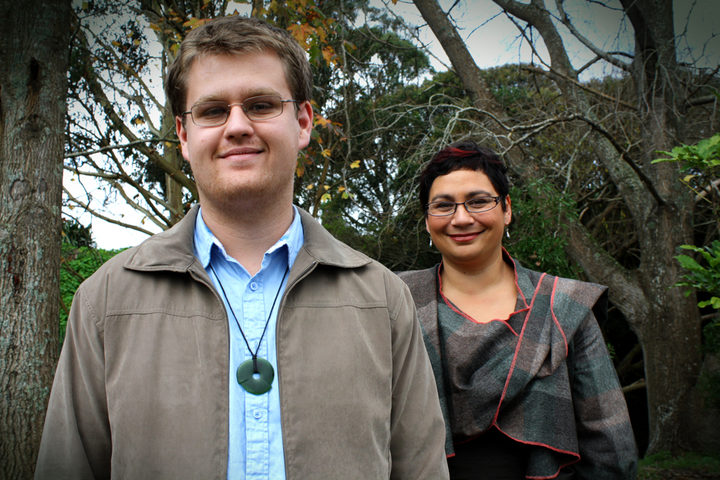 A picture of Greens' candidate Jack McDonald and party co-leader Metirira Turei in 2011