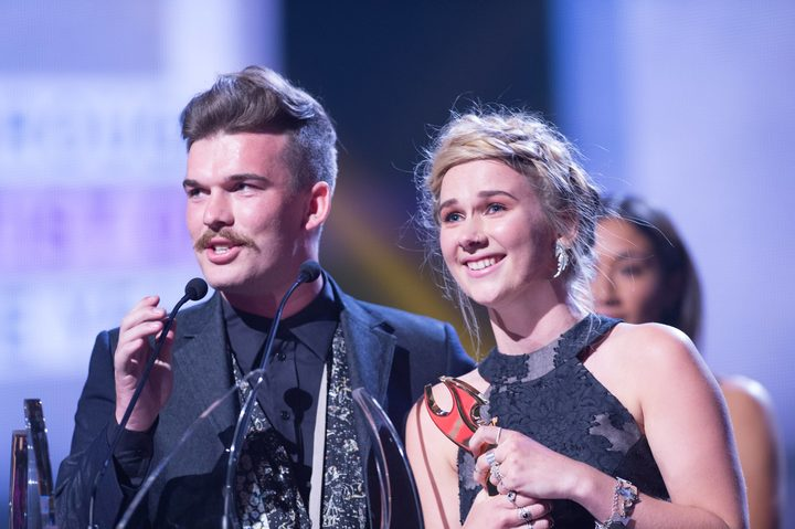 Nelson duo Broods took home their first-ever Tui for Breakthrough Artist of the Year