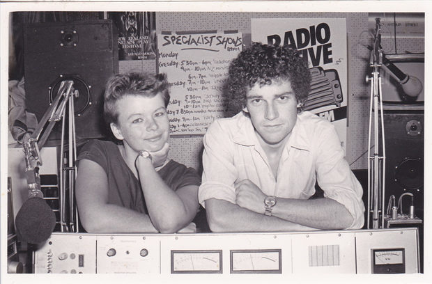 1984 Radio Active co-managers Linda Dale and Stu Birch. Photo Stu Birch.