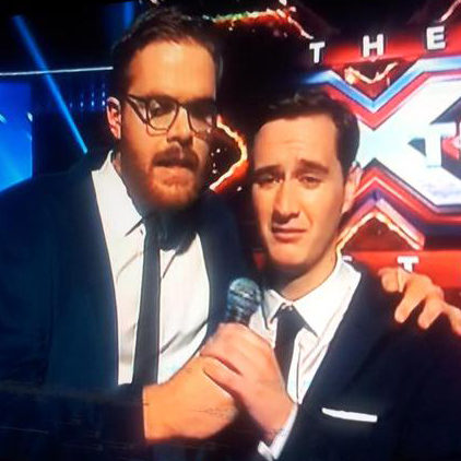Guy Williams with Joe Irvine on the Xtra Factor.