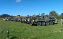NZ Defence Force Light Armoured Vehicles.
