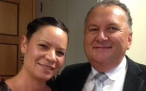 Shane Jones and wife Dorothy.