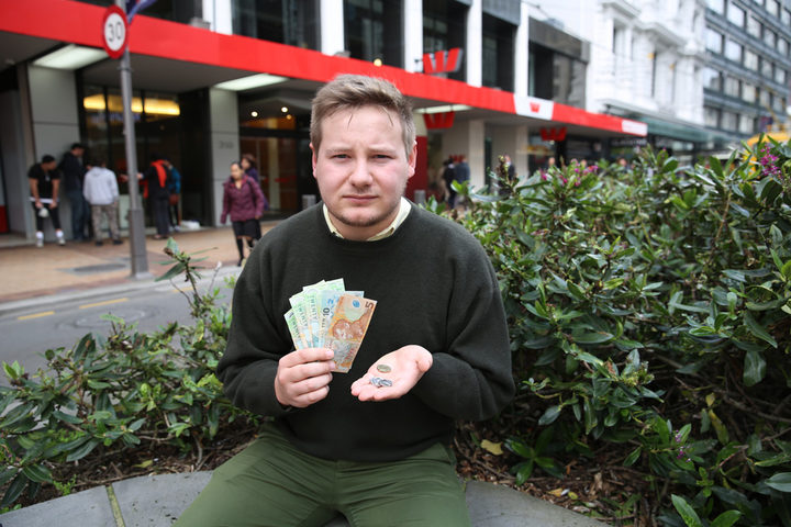Rory McCourt says the $176.86 a student can borrow each week isn't enough to live on, especially in cities like Auckland and Wellington.