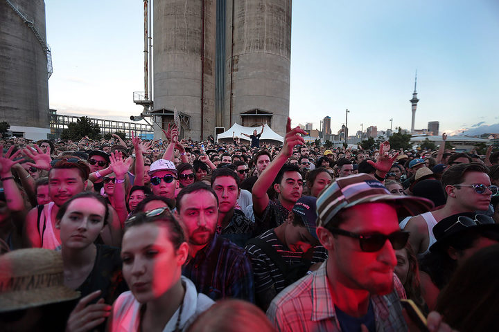 The Laneway 2015 crowd packed in front of the Cactus Cat stage.