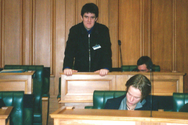 Former youth MP Chris Bishop in 2000 way before he became a real MP for National.