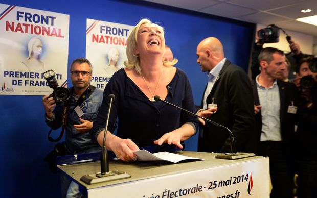 National Front leader Marine Le Pen told supporters people no longer wanted to be led by EU technocrats.