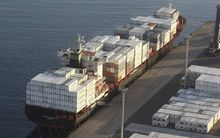 Exports rose 14 percent to $4.5 billion in April.