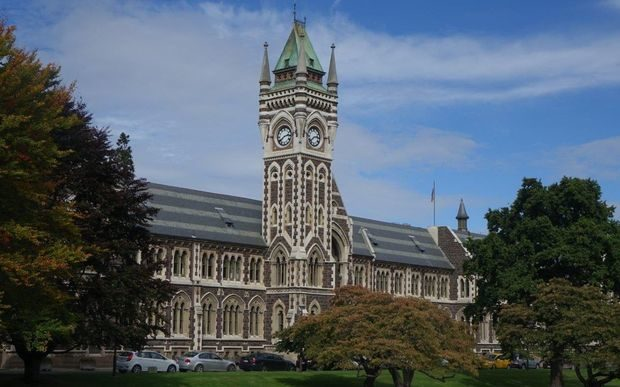Otago University's Clocktower Building.