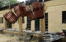 After the raid: a classroom at the government girls secondary school in Chibok.