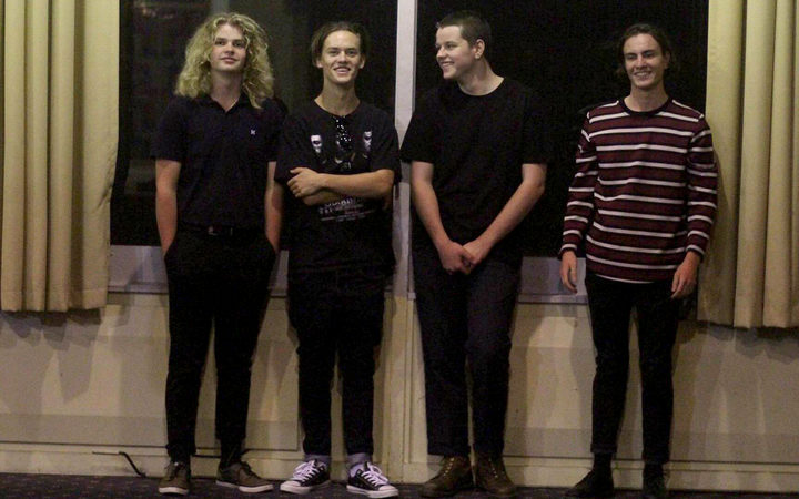 L-R: James Thorrington (Drums), Pierre Beasley (Bass), Lachie Thurlow (Guitar), Christian Dimick (Guitar/Vocals).