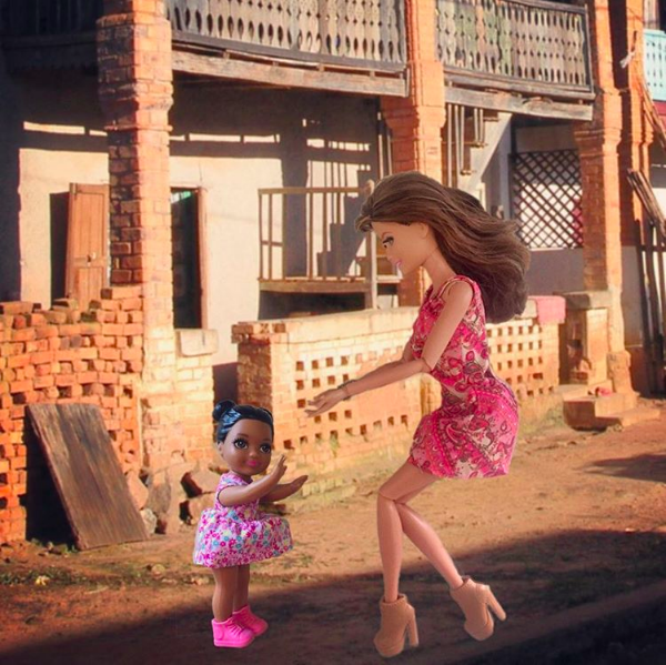 Instagram accounts like @barbiesavior satirise the orphanage trip phenomenon