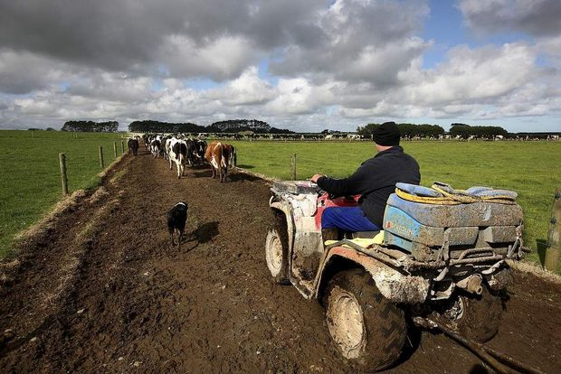 farm worker on tractor