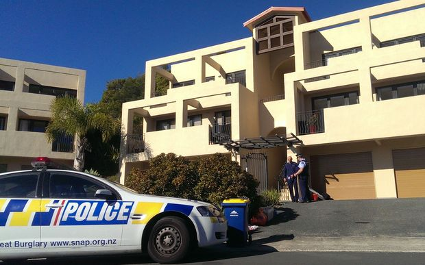 Police searched an apartment block at Monte Cassino Place in Birkdale.