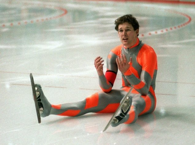 Dan Jansen at the 1988 Winter Olympics in Calgary