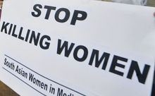 A protest against honour killing in Karachi in 2008.