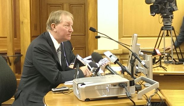 Nick Smith at the select committee on Wednesday.