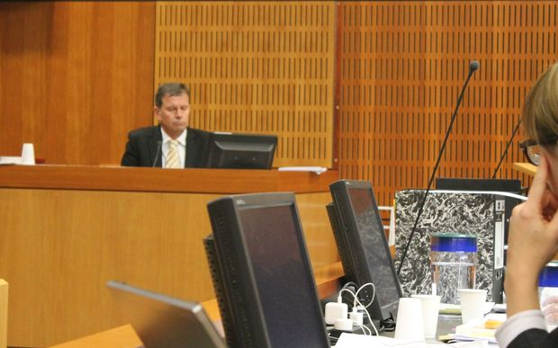 Grant Graham giving evidence on Wednesday.