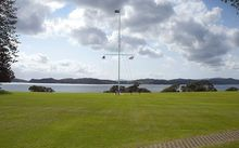 The flagpole at the Waitangi Treaty Grounds.