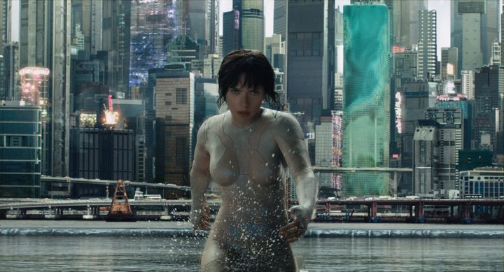 Scarlett Johansson in The Ghost in the Shell.