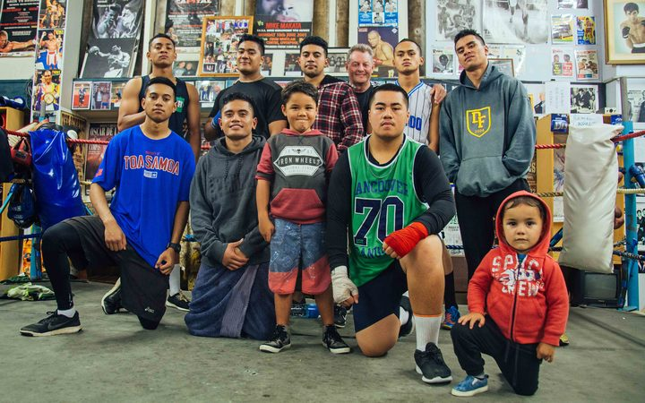 The fighters at Papatoetoe gym.