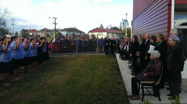 Students performed a waiata at the opening.
