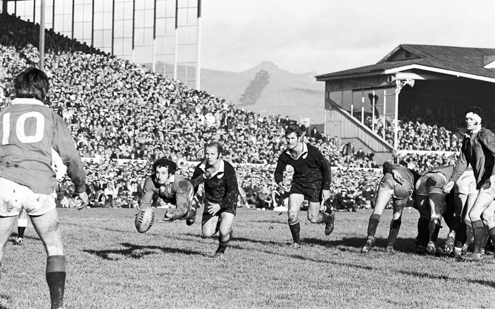 Action from the second Lions Test in 1971.