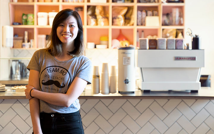 Deanna Yang, Chief Cookie Officer, Moustache Milk & Cookie Bar.