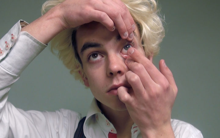 Theo Macdonald has filmed himself impersonating David Bowie.