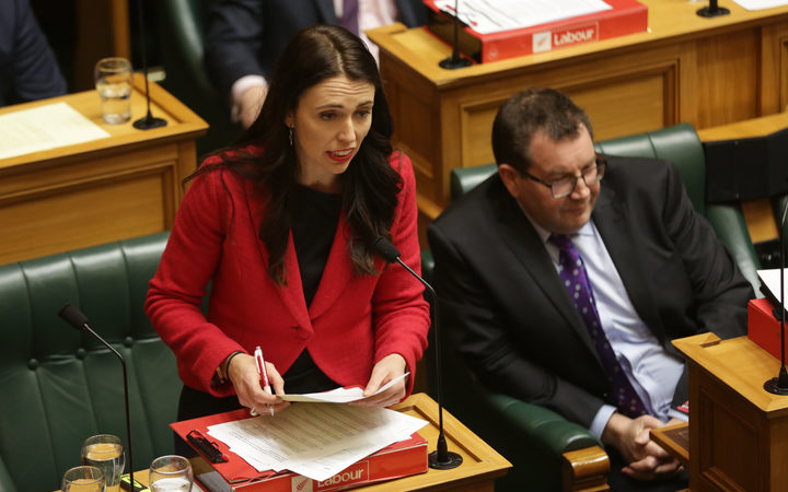 Jacinda Ardern in her first appearance in Parliament as new Labour leader.