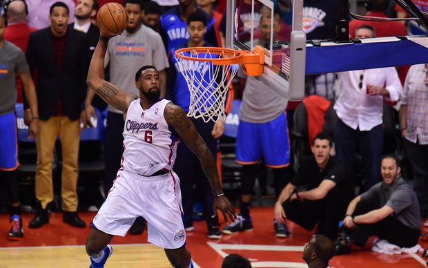 The Clippers' DeAndre Jordan in action.