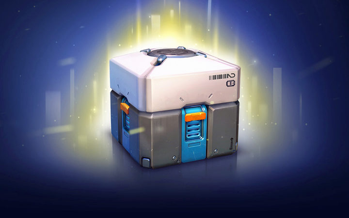 "A ""loot box"" in Overwatch."