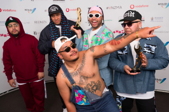 SWIDT after winning best group and best hip hop artist at the Vodafone New Zealand Music Awards.