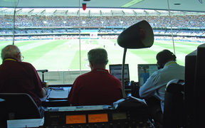 The view from the ABC commentary box for a cricket match in Australia.