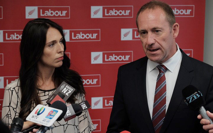 Labour's Jacinda Ardern and Andrew Little.