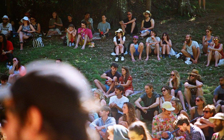 The crowd at the first A Gathering in the Forest.