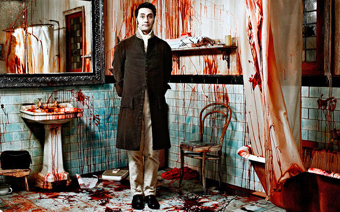 "Taika Waititi on the set of ""What We Do In The Shadows."""