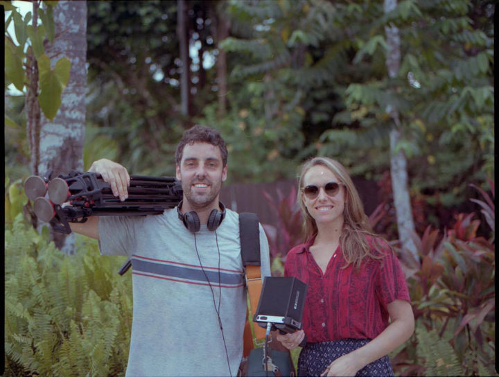 Director and producer Ursula Grace with cinematographer Tim Flower in Samoa shooting Wireless Doc, Aupito - the High Chief. Tim received a bronze award from the New Zealand Cinematographers Society for his work on the film.