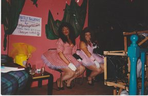 Bertha and Buckwheat at the Staircase nightclub, in 1988