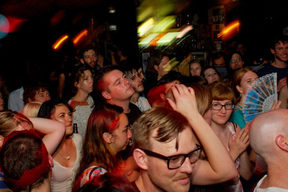A crowded night at Whammy Bar in 2010.
